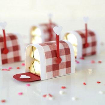 Mini csokival töltött postaládák - Valentin napi ajándék