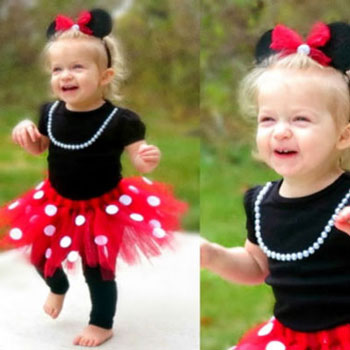 DIY no-sew Minnie mouse costume