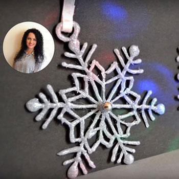 Ragasztópisztoly hópelyhek - hópehely készítés ragasztópisztollyal