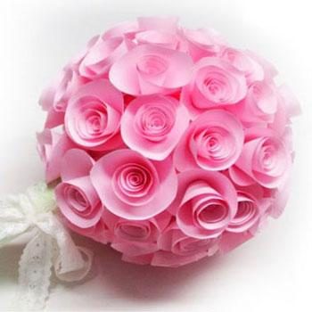 Esküvői papír rózsa (dobó) csokor vagy tavaszi dekoráció papírból