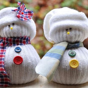Zokni hóemberek