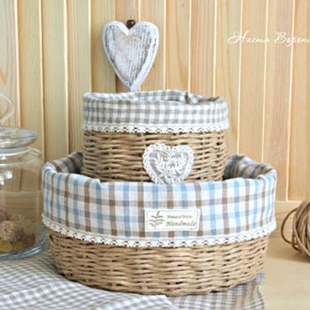 DIY Natural style woven baskets