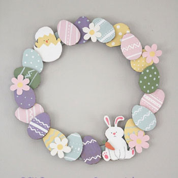 Easy DIY paper Easter egg wreath - Easter decoration