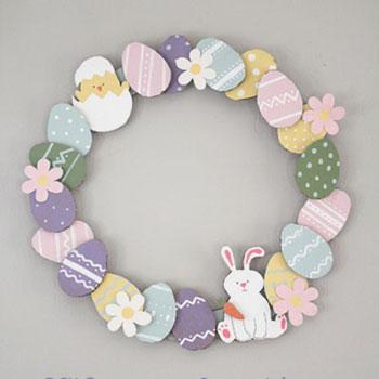 Egyszerű húsvéti tojás koszorú papírból - kreatív ötlet gyerekeknek