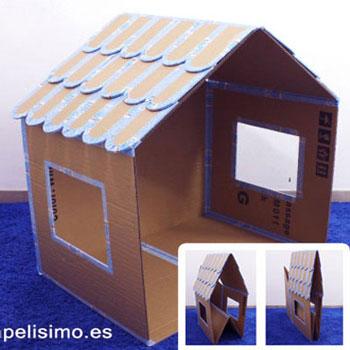 Összecsukható babaház kartondobozból - játék kartonpapírból
