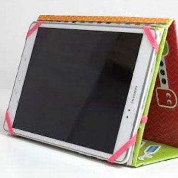 Tablet tartó karton papírból egyszerűen