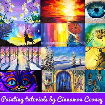 Akrilfestmények lépésről lépésre Cinnamon Cooney festőművésszel