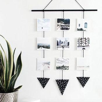 Fényképes függő családi fotókkal - modern lakásdekoráció házilag