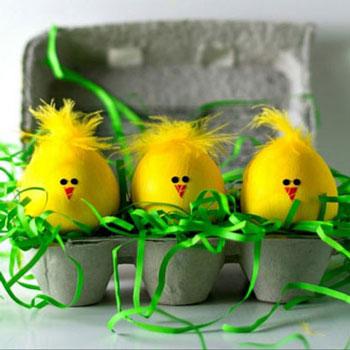 Húsvéti tojás csibék - tavaszi dekoráció (tojásfestés)