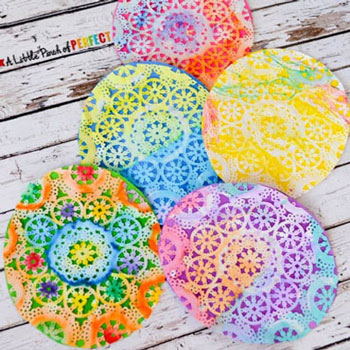 Easter egg paper doily craft for kids