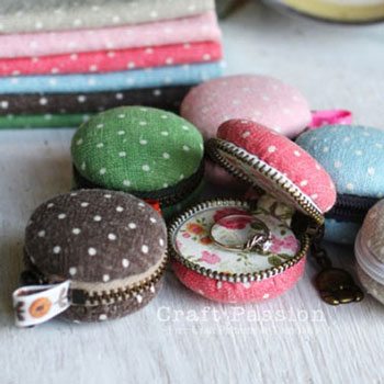 Adorable DIY macaron coin purse