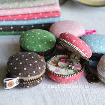 Macaron süti formájú mini pénztárcák (ékszertartó kulcstartók)