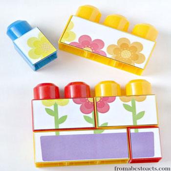 Tavaszi kirakós játék lego duplo-ból  (fejlesztő játék gyereknek)
