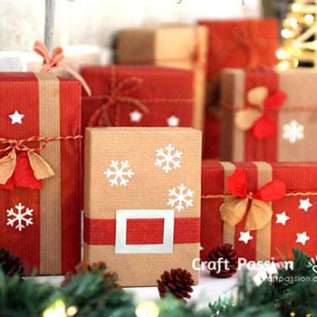 Mikulásos ajándék csomagolás