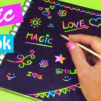 Varázslatos jegyzetfüzet rajzolható karckép borítóval házilag