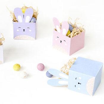 Nyomtatható húsvéti nyuszi dobozok - kreatív ajándék