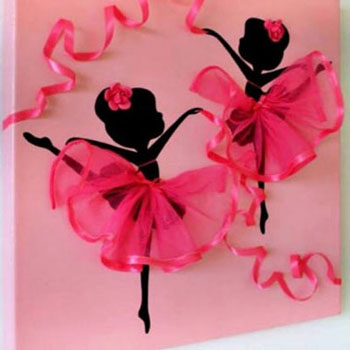 DIY Dancing ballerina tutu canvas wall art (kids room decor)