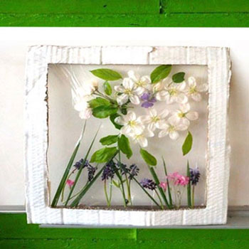 DIY Spring flower artwork - easy spring kids craft project