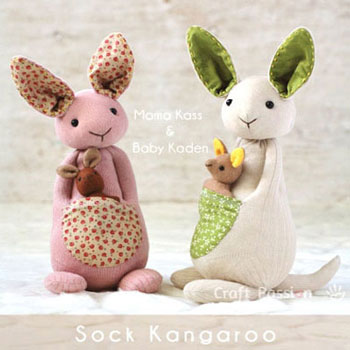 DIY Sock kangaroo - soft toy for kids (free sewing pattern) - Mindy