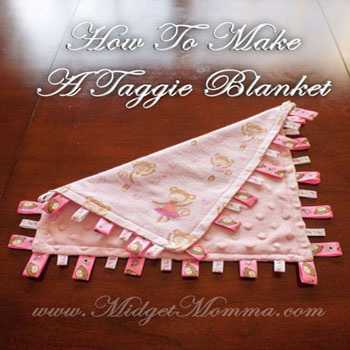 DIY Soft taggie blanket - blankie with tags (sewing pattern)