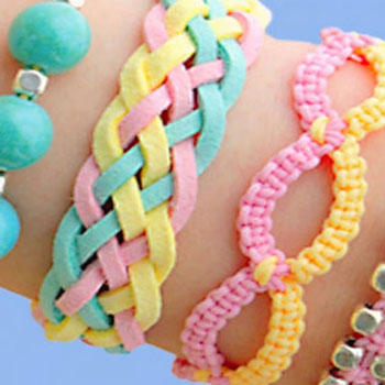 4 DIY friendship bracelets - easy stackable arm candy projects