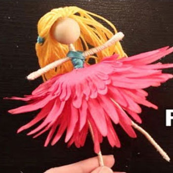 How mo make a spring flower fairy doll - doll making tutorial