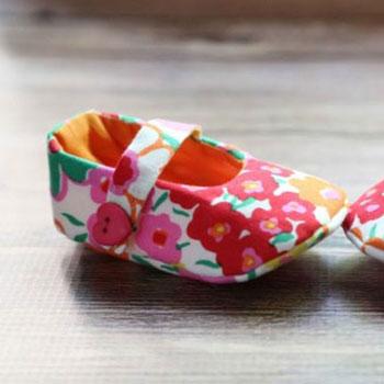 Textil baba cipőcskék ( kocsicipő ) - ingyenes szabásminta
