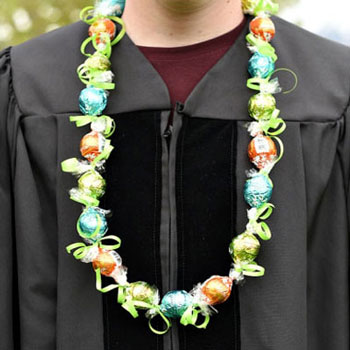 DIY Chocolate graduation lei ( party necklace )
