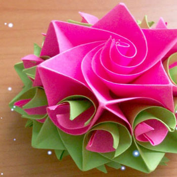 DIY Amazing paper rose - origami flower gift topper