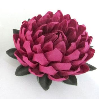 Origami lótusz - kreatív tavaszi dekoráció papírhajtogatással