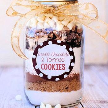 Instant sütemény - összetevők befőttesüvegben