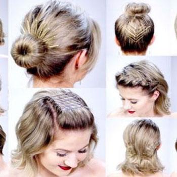 11 Szuper egyszerű frizura hajcsatokkal (rövid hajhoz)