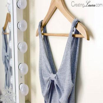 Masnis hátú ujjatlan nyári top pólóból - kreatív ruha átalakítás