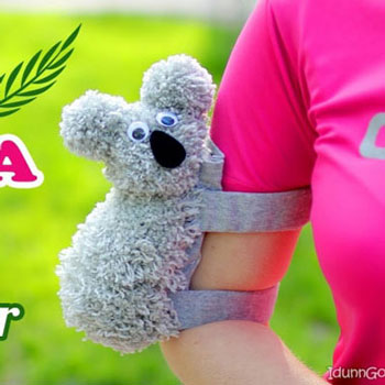 DIY Koala arm phone holder – phone case for arm