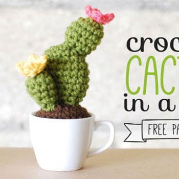 Horgolt (amigurumi) kaktusz - örök életű szobanövény