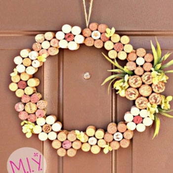 DIY Easy wine cork spring - summer wreath