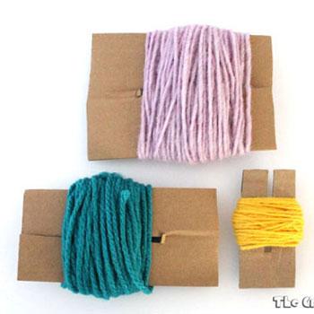 Pompon készítő házilag karton papírból egyszerűen