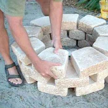 Kerti tűzrakóhely (grill) készítése házilag egyszerűen