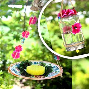 Makramé lepke etetők házilag egyszerűen - újrahasznosítás
