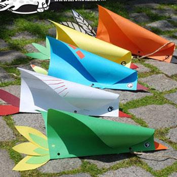 Vicces reptethető madár (papírsárkány) papírból egyszerűen