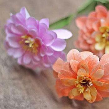 Egyszerű rézvirágok papírból (ingyenes nyomtatható sablon)