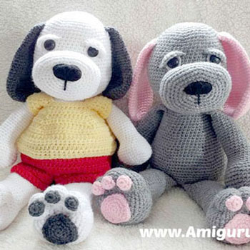 Ölelni való amigurumi kutyus - ingyenes kutya horgolásminta
