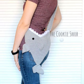 DIY Crochet shark bag - fun free summer bag  pattern