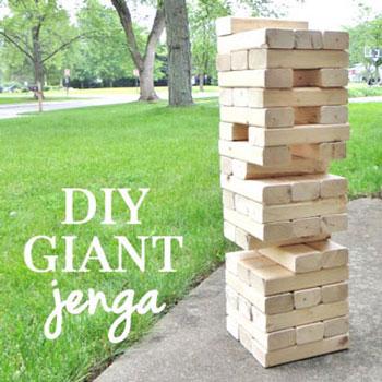 Óriás kerti Jenga fából egyszerűen - társasjáték fából (barkácsolás)