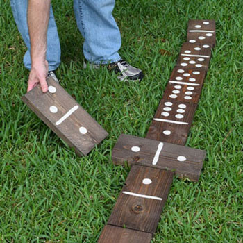 Óriás kerti dominó fából - kerti társasjáték (barkácsolás)