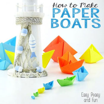 How to make a paper boat – origami for kids