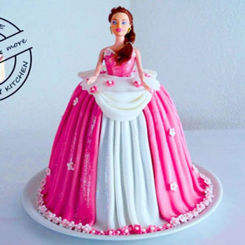 DIY Barbie doll cake (princess cake) - step-by-step tutorial