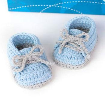 Egyszerű horgolt baba cipő (kocsicipő) - ingyenes horgolásminta