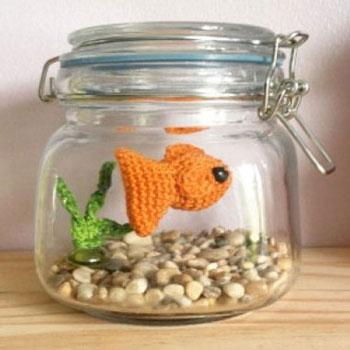 Gondozásmentes akvárium amigurumi halacskával (ingyenes horgolásminta)