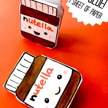 Nutella alakú jegyzettömbök egyszerűen - vicces jegyzetfüzet